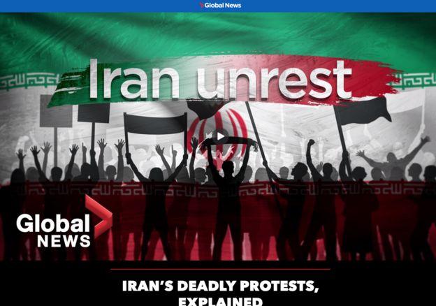 گلوبال نیوز کانادا هم در ویدیویی کوتاه تلاش کرده برای مخاطبان خود چگونگی شکلگیری اعتراضات اخیر در ایران را تشریح کند
