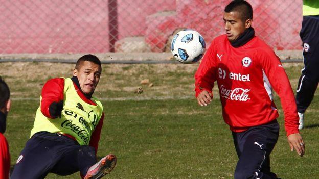 Alexis Sánchez y Arturo Vidal.