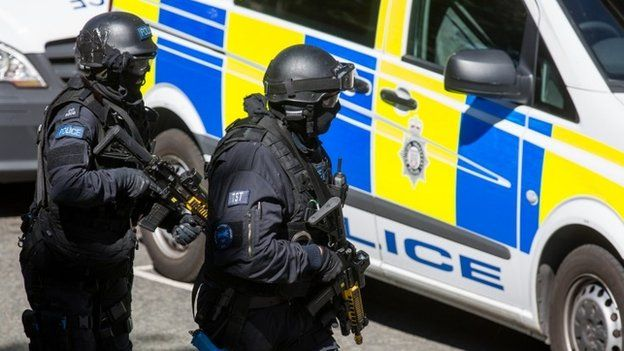 Police taking part in counter-terrorism exercise in London