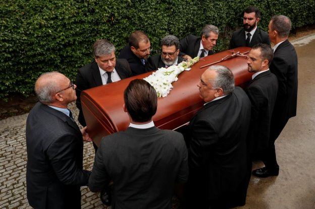 Montserrat Caballé's coffin in Barcelona, 8 October