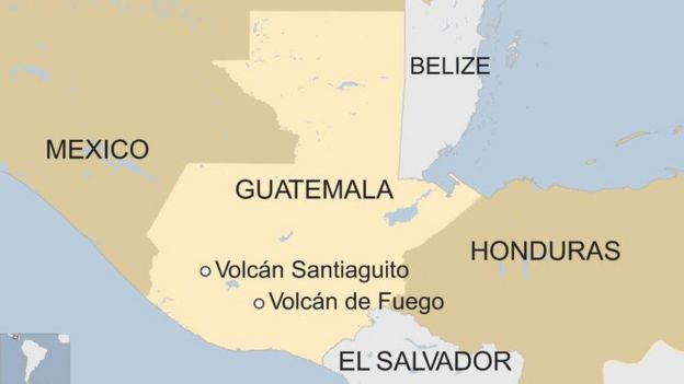 Mapa Santiaguito