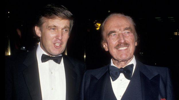 Donald Trump y su padre, Fred Trump.