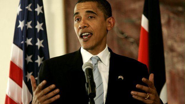 Obama visits Kenya in 2006