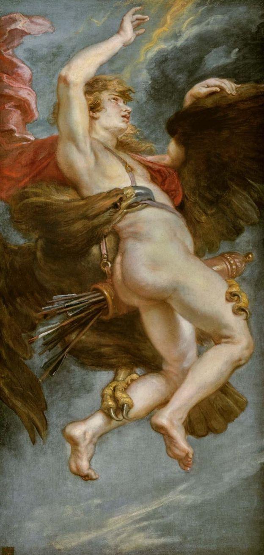El rapto de Ganimedes, de Pedro Pablo Rubens, 1636-1638