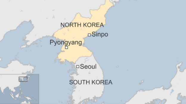 North korean missile fired ahead of us china summit bbc news map gumiabroncs Image collections