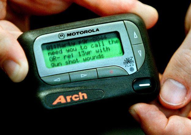 Un localizador de Motorola