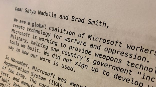 The letter was circulated internally at Microsoft on Friday