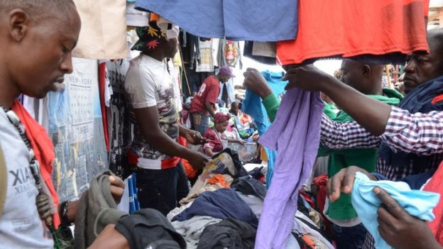Men examining the merchandise