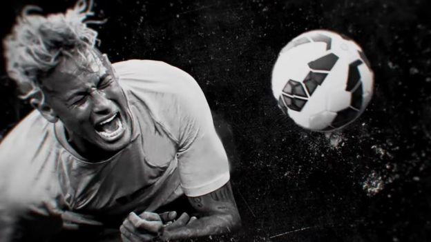 Neymar'ın videosundan bir kare
