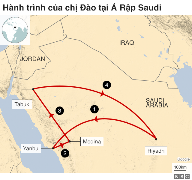Dao's journey in Saudi Arabia
