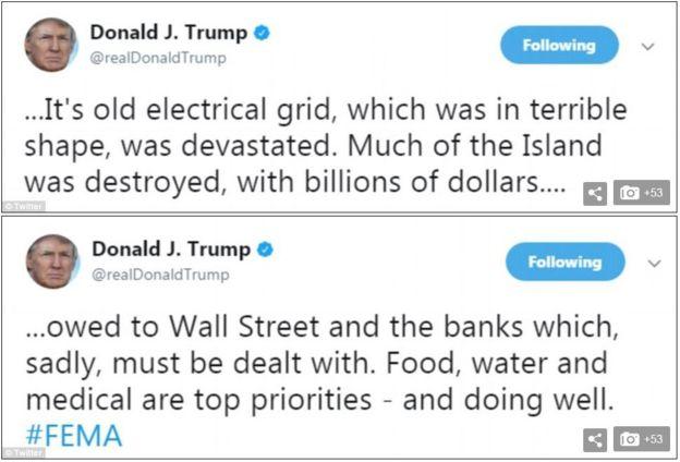 Tuits de Donald Trump