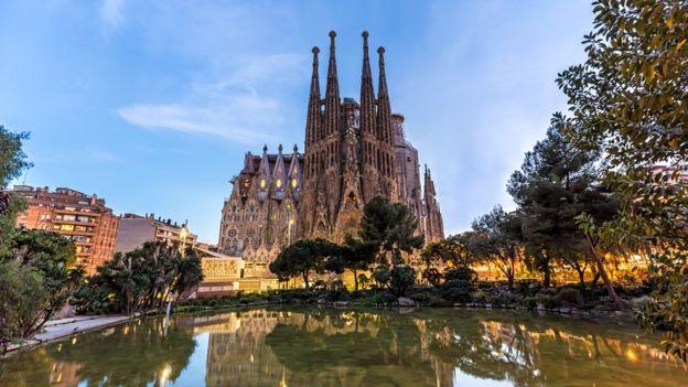 A Sagrada Família em Barcelona