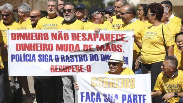 Protesto de cotistas do Postalis em 2018