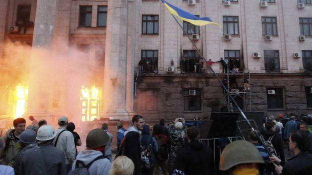 Будинок профспілок, Одеса, 2 травня 2014 року