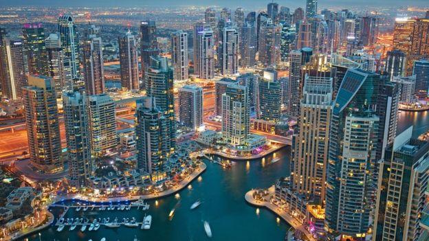 Skyline de Dubai.