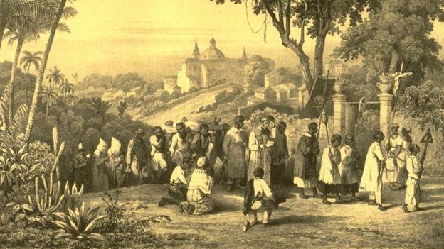Enterro de um negro na Bahia