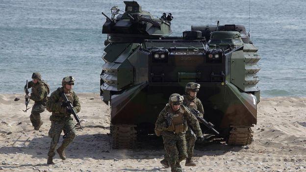 Ejercicio militar estadounidense en Corea del Sur