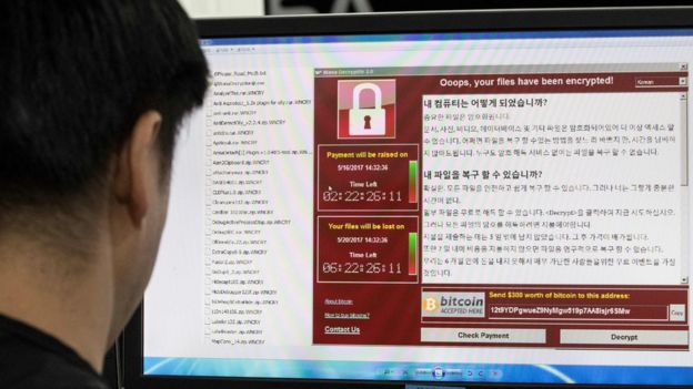 Staff at the Korea Internet and Security Agency monitor the spread of ransomware cyber-attacks