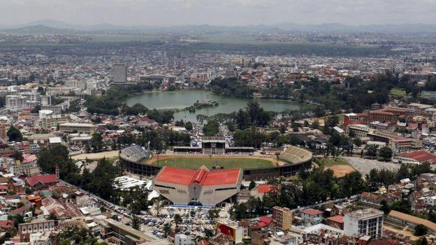 View of the Mahamasina municipal stadium