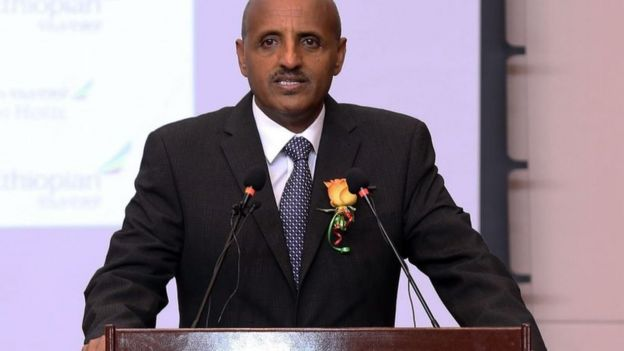 Ethiopian Airlines's chief executive Tewolde GebreMariam