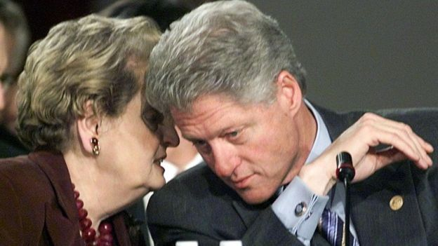 Madeleine Albright y Clinton