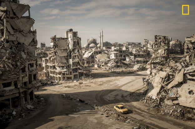 Homs en ruinas.