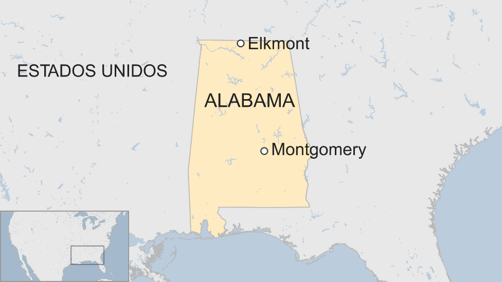 Mapa Elkmont, Alabama.