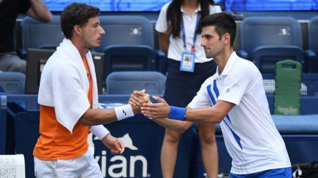 Pablo Carreño y Djokovic.
