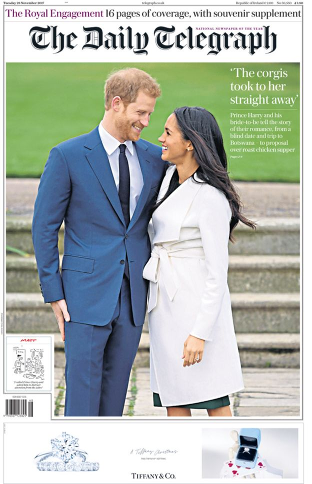Image result for Newspaper headlines: Royal wedding announcement hailed