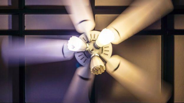Un ventilador eléctrico