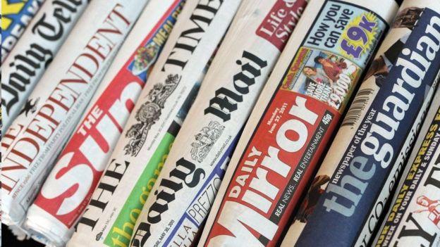 资料图片,英国各大报章