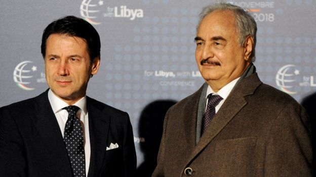 Libyalı Geneal Hafter, İtalya Başbakanı Conte ile görüştü