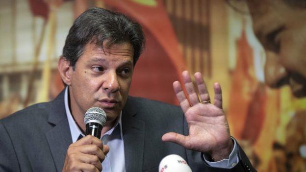 Mercado Financeiro animado com perspectiva da vitória de Bolsonaro!-Fernando Haddad- Divulgação Gazeta Comunitária