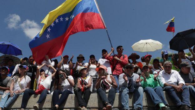 Simpatizantes de Juan Guaidó