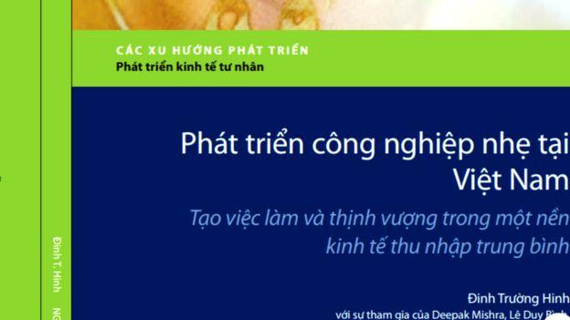 Bìa cuốn Công nghiệp nhẹ tại Việt Nam, các xu hướng phát triển