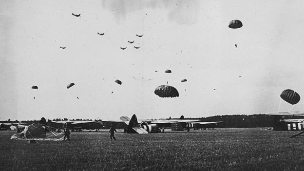 Paratroopers and Gliders in Operation Market Garden in September 1944
