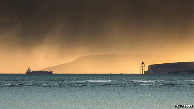 Ferry heading towards Isle of Wight