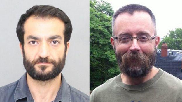 Selim Esen, a la izquierda, y Andrew Kinsman