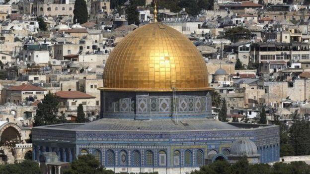Vista do Monte do Templo em Jerusalém