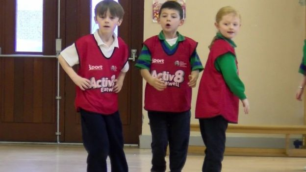 Pupils from St Ronan's primary school