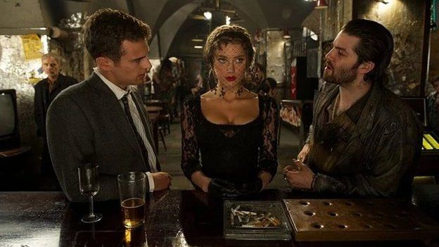 Theo James, Amber Heard and Jim Sturgess in London Fields