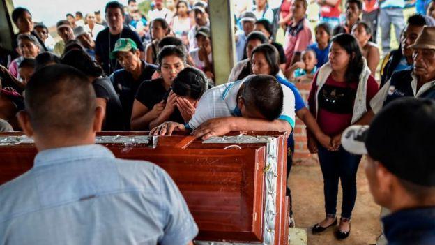 Funeral de un líder social
