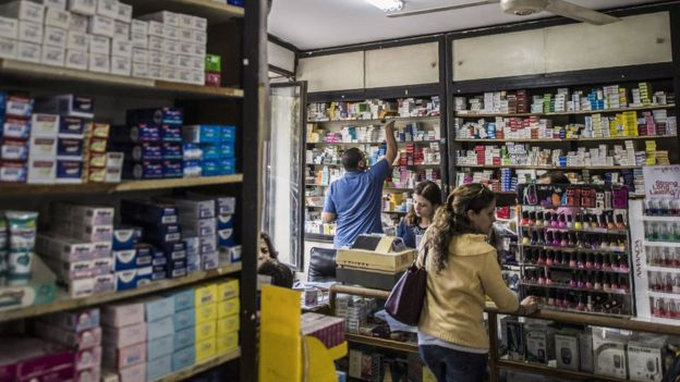 مصر کی ایک فارمیسی
