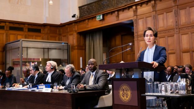 Аун Сан Су Чжи в Гааге