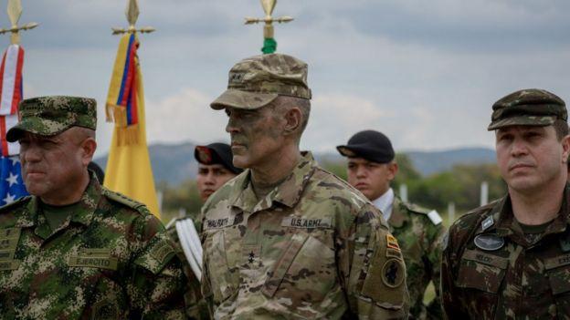Militares de Colombia y Estados Unidos