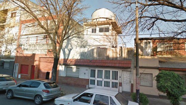 Casa de Víctor Buso com a cúpula para o telescópio