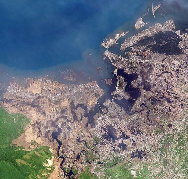aceh, aerial, tsunami