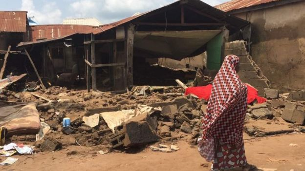 House damaged by torrential rains