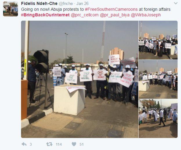 protestas en Camerún