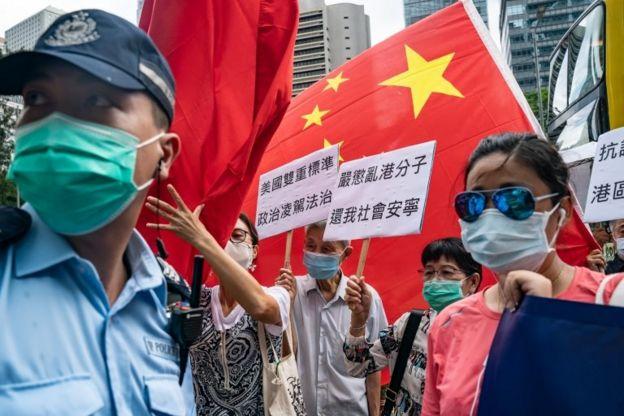 protestas a favor de China